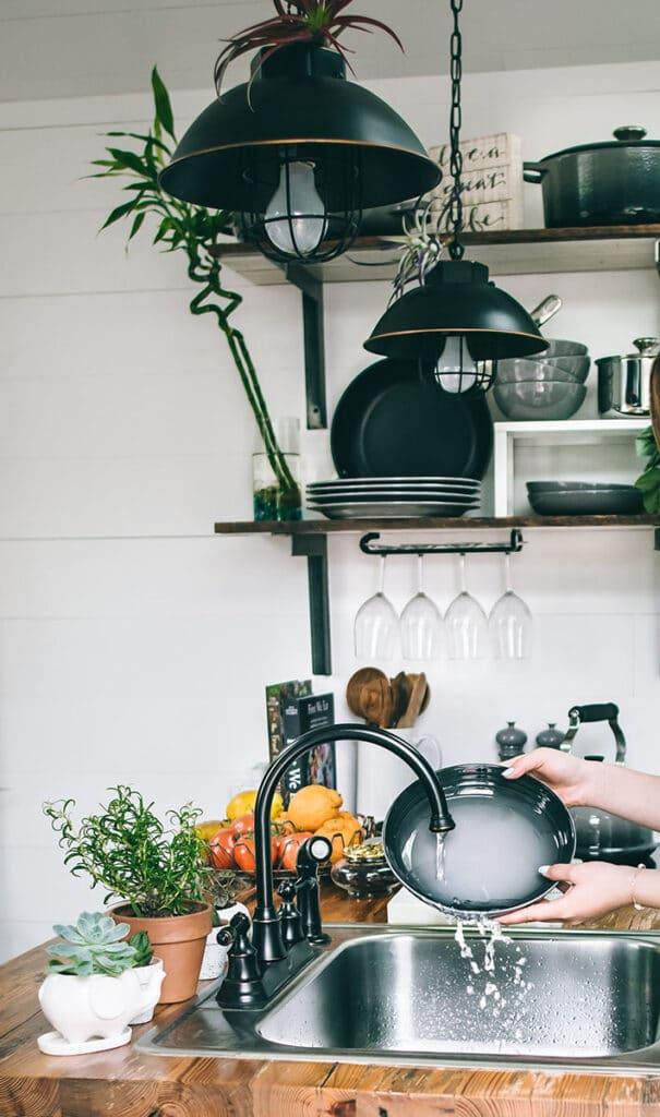 Frøsø køkken inspiration håndvask køkken