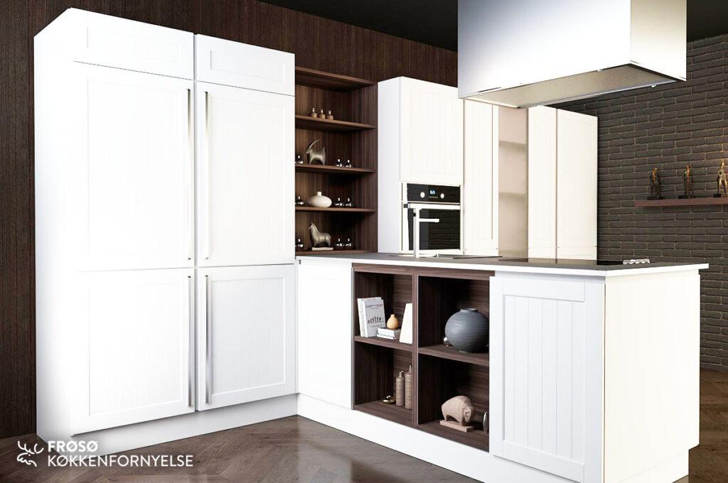 Frøsø hvidt køkken W00057